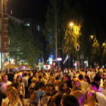 Fußball Fans feiern den WM Triumph auf der Leopoldstraße