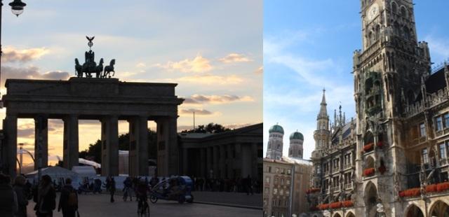 München und Berlin