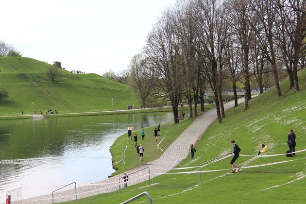 Sportaktivitäten am Olympiaberg