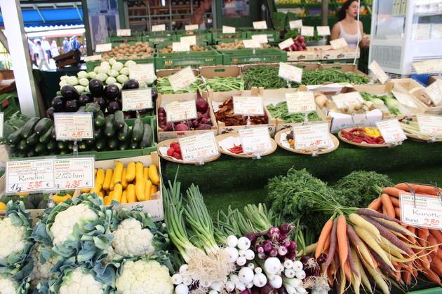 Gemüsestand am Viktualienmarkt