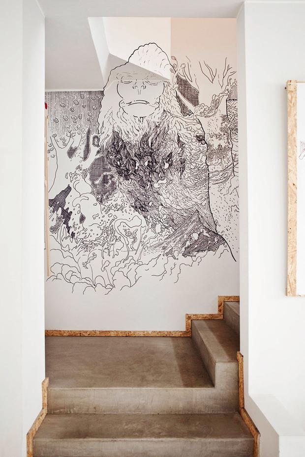 Scribblitti an der Wand