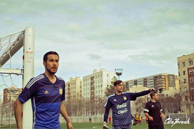 Equipo Argentina futbol en Barcelona