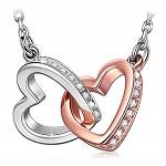 ANGEL NINA Liebe auf den ersten Blick Frauen verschlungenes Herz Halskette