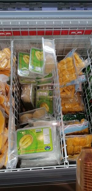 gekühlte Durian im Asia Markt
