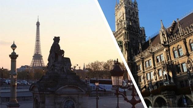 München vs Paris Städtevergleich