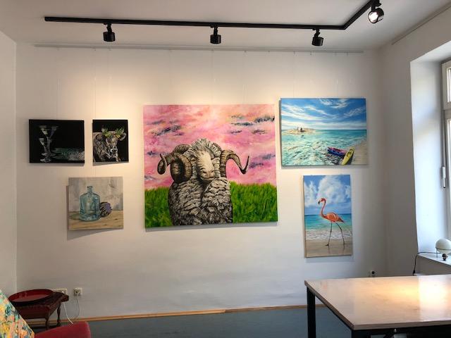 Kunstwerke im Atelier