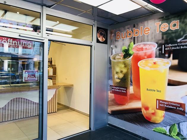 Bubble Tea Laden von draußen